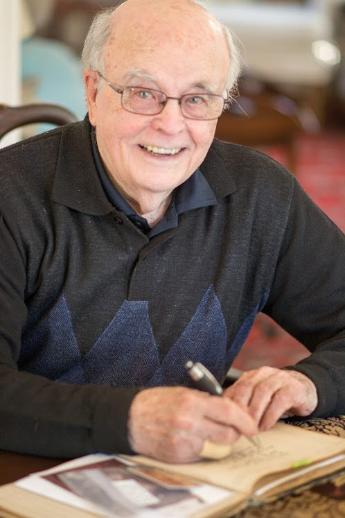 Mr Larry Kirby signing The Log Book on April 22nd, 2018.