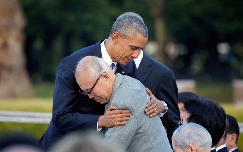 President Obama and Mr Mori.