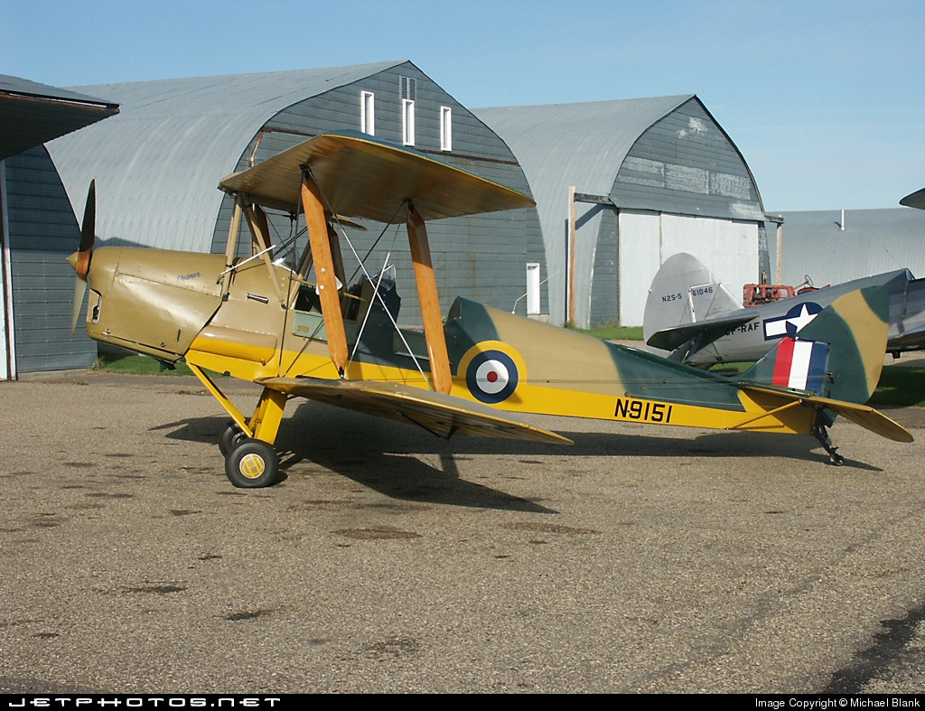 Recent picture of Tiger Moth N9151 (c/n #82270) in Alberta, Canada.