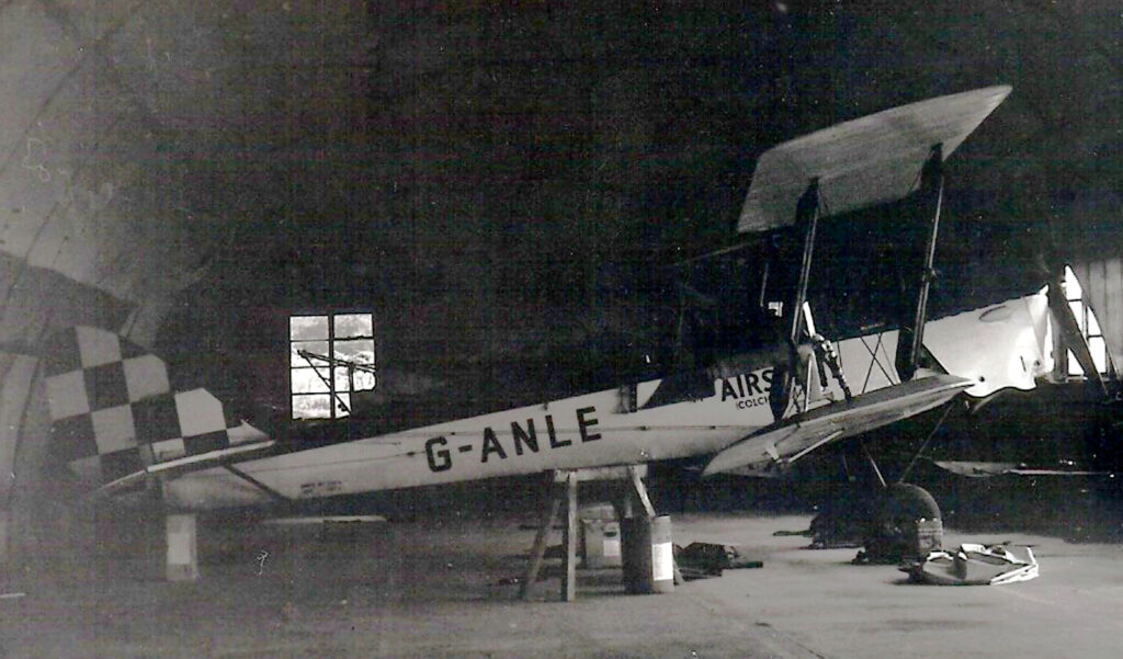 Tiger Moth NM142 as G-ANLE at Boxted Airfield July 13th 1963. Photograpgh courtesy of Peter Fitzmaurice personal collection.