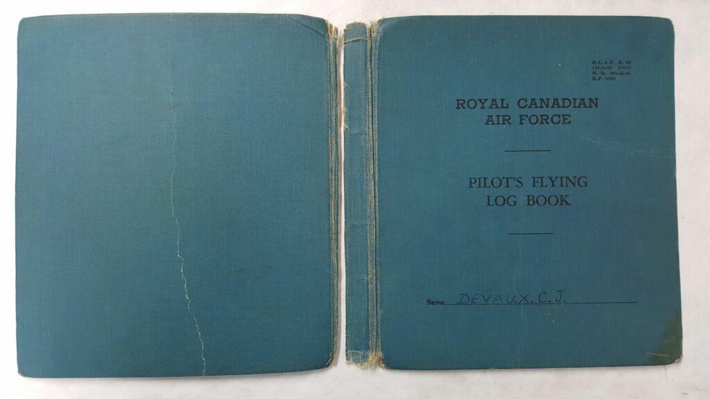 The Log Book cover under restoration