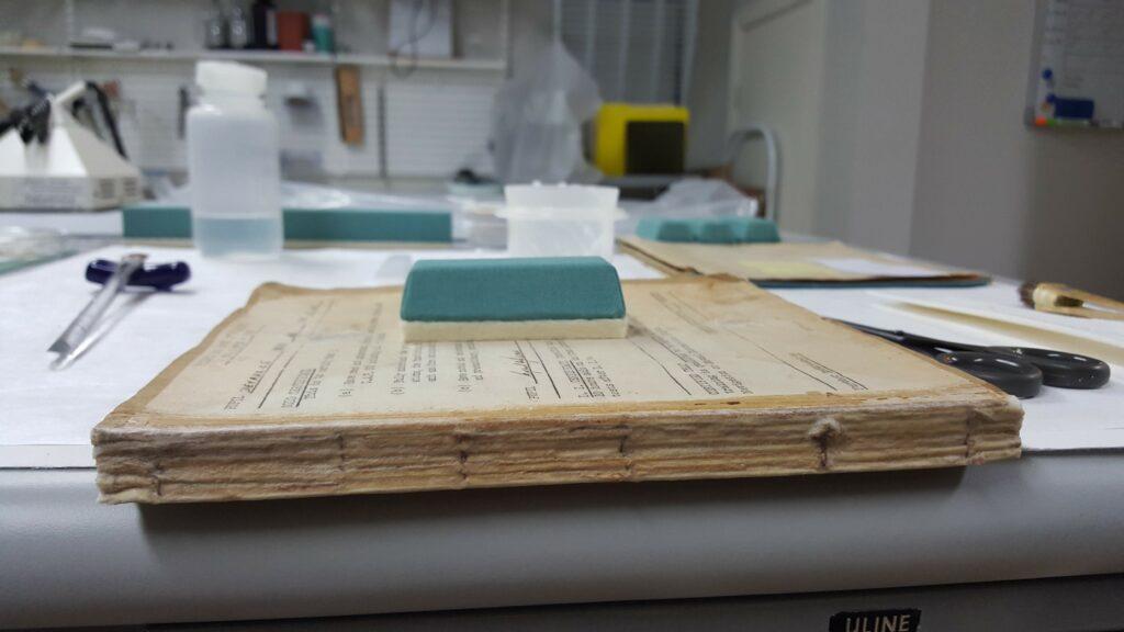 The Log Book under restoration