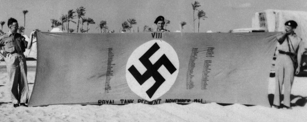 Captured Nazi flag.